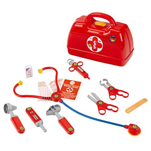 Theo Klein 4457 Arztkoffer I Mit Stethoskop, Thermometer, Spritze und vielem mehr I Robuster Koffer mit...