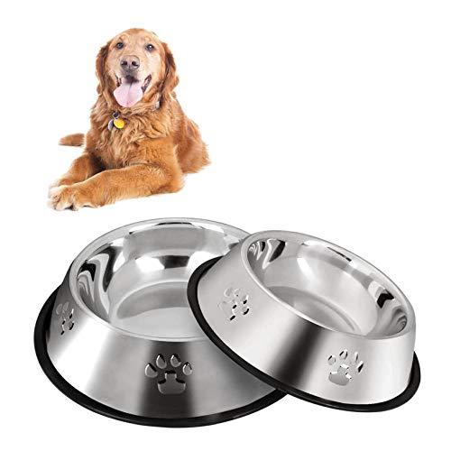 2 Stück Edelstahl Hundenapf, rutschfeste Hundenäpfe/Futternapf,Hundenapf Mittelgroße Hunde...