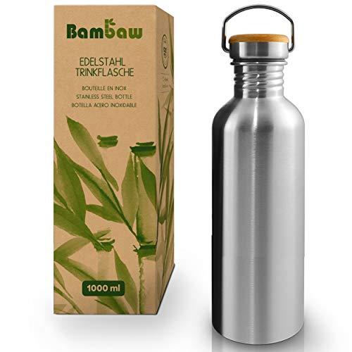 Bambaw Trinkflasche 1l Edelstahl | Langlebige Wasserflasche 1l| Wiederverwendbare öko Wasserflasche |...