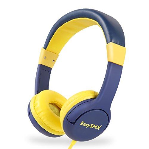 EasySMX Leicht-Kopfhörer, Kinderkopfhörer mit Laustärkebegrenzung, verstellbare Headset für iPod iPad...