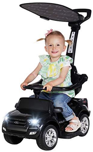 Actionbikes Motors Kinder Rutschauto Ford Ranger - Lizenziert - 3 in 1 - Schubstange - Sonnendach -...