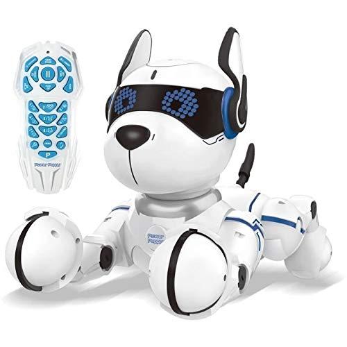 Lexibook DOG01 Power Puppy-My Programmable Smart Dog-Programmierbarer Roboter mit Fernsteuerung, Tanz,...