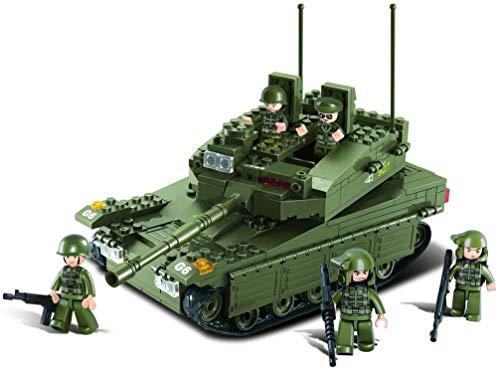 Sluban SL95130, Panzer III (355 Teile) [M38-B0305], Spielset , Klemmbausteine, Soldaten, mit Spielfigur,...