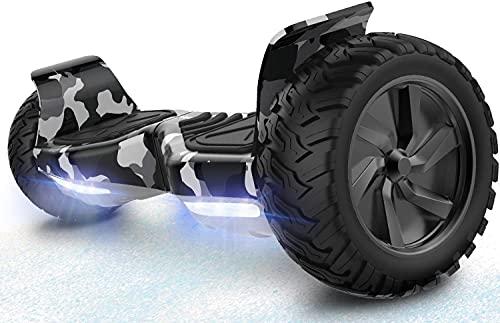 RCB Hoverboard 8.5' Scooter Elektro Scooter E-Skateboard mit Geländewagen für alle Gelände 8.5' Hummer...