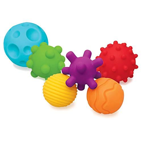 Infantino Textured Multi Ball Set – Texturierte Bälle im Set für die sensorische Entwicklung – Für...