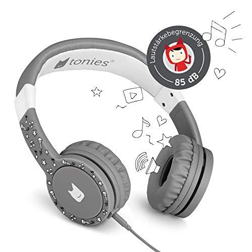 Tonie-Lauscher anthrazit grau: Kinder Kopfhörer passend zur Toniebox - Lautstärke reguliert,...