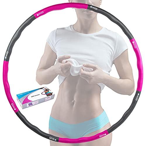Hula Hoop Reifen,Fitness Hula Hoop für Erwachsene und Kinder ,Hullahub Reifen Zum Abnehmen,Hula-Hoop...