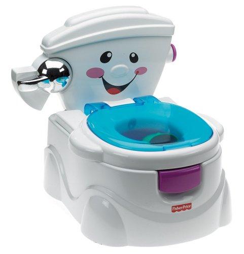 Fisher-Price P4326 Meine erste Toilette Töpfchen und Toilettensitz mit Musik und Soundeffekten...