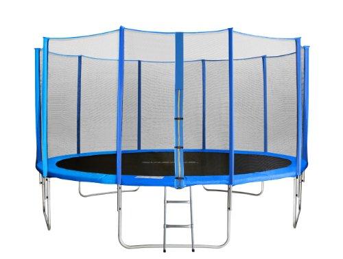 SixBros. SixJump Gartentrampolin 4,30m - Kindertrampolin für den Garten, Outdoor-Trampolin, Komplett-Set...