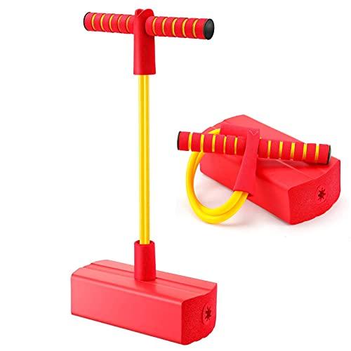 Babyhelen Schaum Pogo Jumper, Bungee Jumper - weicher Pogo Stick Bouncer für Kinder (Rot)