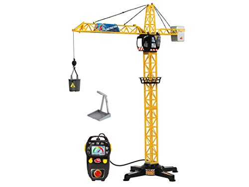 Dickie Toys 203462411 Giant Crane elektrischer Spielzeug Kran, ferngesteuert, 100 cm hoch