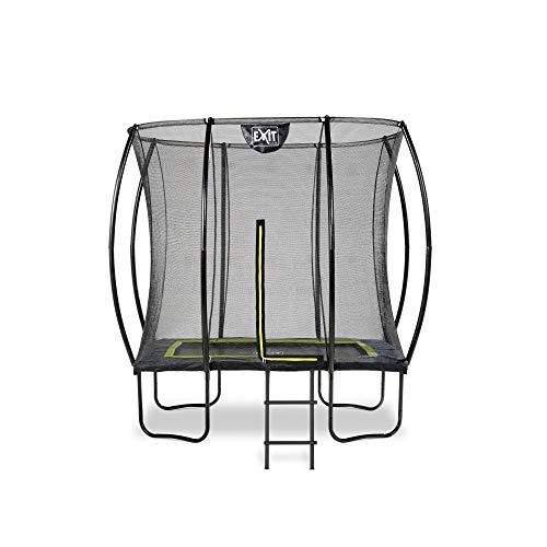 EXIT Trampolin rechteckig - 153 x 244 cm - mit Leiter & Sicherheitsnetz - schwarz