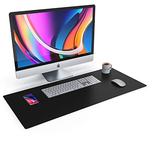 CSL Tischunterlage Schreibtischunterlage 90 x 40cm - Premium PU-Leder Schreibunterlage - zusätzliche...
