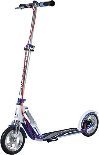 HUDORA BigWheel Air Dual Brake 205 Luftreifen-Scooter - Big Wheel Scooter mit Handbremse - Tret-Roller...