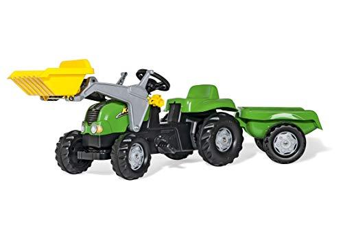 Rolly Toys RollyKid-X Trettraktor mit Anhänger (mit Frontlader, Alter 2,5 – 5 Jahre, Heckkupplung)...