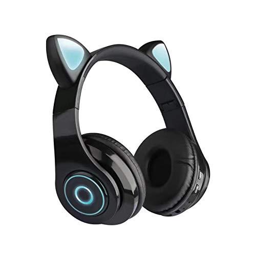 Bluetooth Headset Bluetooth-Headset Noise Cancelling Cartoon Head-Mounted Musik Weibliche Katze Ohr...