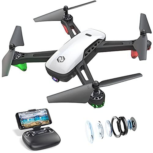 SANROCK U52 Drohne mit Kamera 1080P HD Kamera WiFi Live Video FPV Drohne für Kinder RC Quadcopter,...