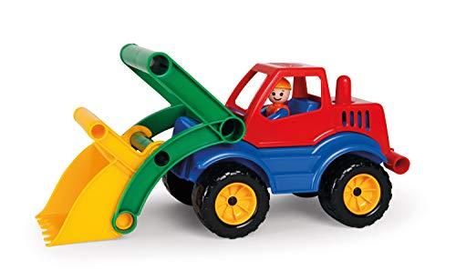 Lena 04352 - Aktive Schaufellader, ca. 33 cm, mit vollbeweglicher Spielfigur, Baustellen Spielfahrzeug...