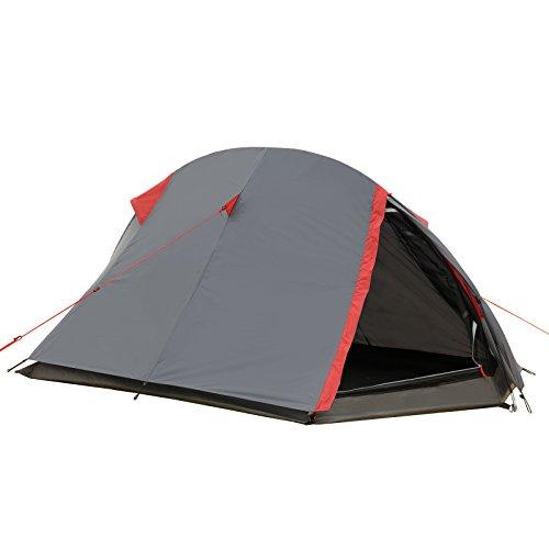 Justcamp Fargo 1, 1-2 Mann Zelt, Tunnelzelt, Leicht (2700g), Kleines Packmaß, Campingzelt, Zelt für...