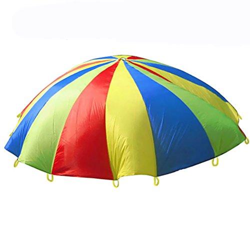 VORCOOL Kinder Schwungtuch Bunt Fallschirm Spielzeug für Gruppenspiel Kooperative Bewegung Spiele 1.1...