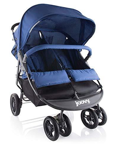Joovy Scooter X2 Zwillings Geschwisterwagen Kinderwagen Buggy, blau