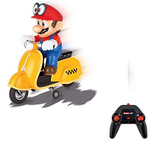 Carrera RC 370200992 Super Mario Odyssey Scooter – Ferngesteuerter Elektro-Roller für drinnen &...