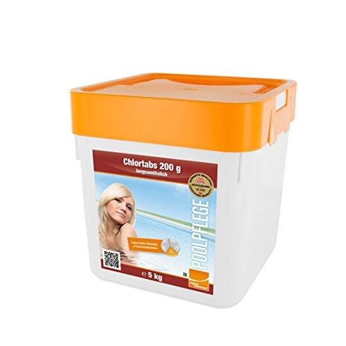 Steinbach Poolpflege Chlortabs, 200g langsamlöslich, 5 kg, Chlorprodukt, 0752205TD02