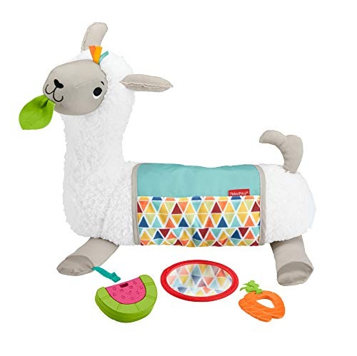 Fisher-Price GLK39 - 4 in 1 Lama weiches Spielkissen mit 4 Spielmöglichkeiten und 3 Spielzeuge zum...