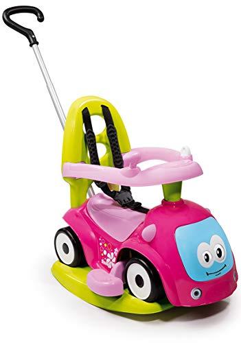 Smoby 720303 - Maestro Balade Pink - Komfortables Rutscherfahrzeug mit 4 Verwendungsfunktionen,...