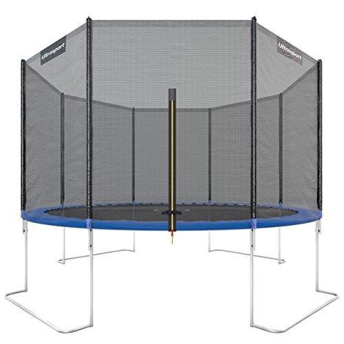 Ultrasport Outdoor Gartentrampolin Jumper, Trampolin Komplettset inklusive Sprungmatte, Sicherheitsnetz,...