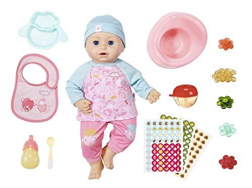 Baby Annabell Fütterspaß Puppe mit Kleidung und Zubehör und lebensechten Funktionen, weinen, trinken,...