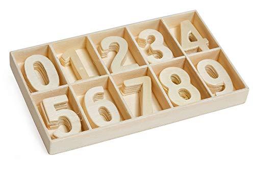 Holz-Zahlensortiment, 50-tlg.