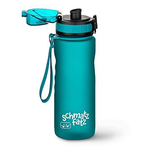 schmatzfatz auslaufsichere Sport Trinkflasche Kinder, BPA frei, 500ml, Fruchteinsatz, 1-Klick Verschluss,...