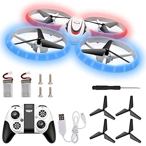 Herefun Mini Drohne für Kinder, Anfänger, Mini Drohne Set mit 2 Akkus und USB, Indoor RC Quadrocopter,...