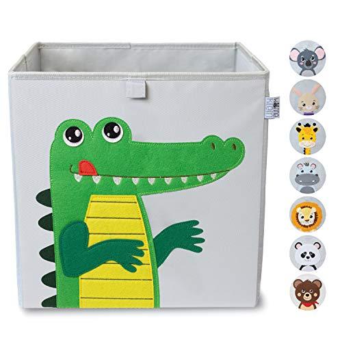 wonneklein Aufbewahrungsbox Kinder I Spielzeugkiste Kinderzimmer I Spielzeug Box (33x33x33 cm) zur...