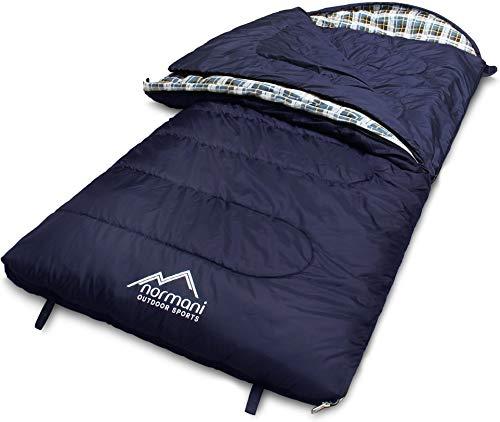 normani 4-in-1-Funktion Extrem Outdoor Schlafsack 'Antarctica' aus Nylon Rip-Stop mit 500 + 250 g/m²...