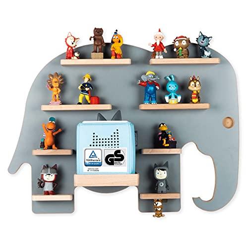BOARTI das Original Kinder Regal Elefant in Grau TÜV/GS-Zertifiziert - geeignet für die Toniebox und...