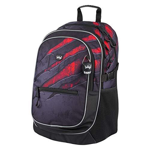 Baagl Schulrucksack für Jungen - Schulranzen für Kinder mit ergonomisch geformter Rücken, Brustgurt...