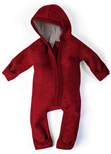 Ehrenkind® WALKOVERALL   Baby Wollwalk-Overalls aus Natur Schurwolle mit Reißverschluss   Walk Wolle...