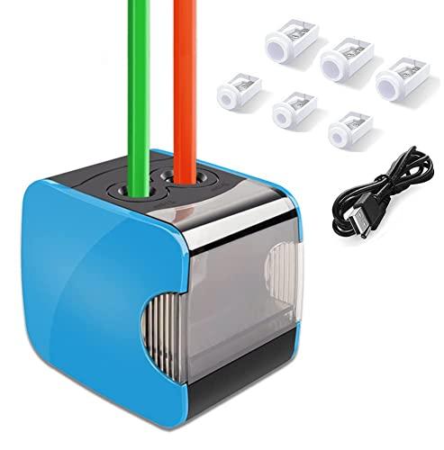 Oladwolf Elektrischer Anspitzer, Automatischer Bleistiftanspitzer mit Zwei Löchern, Pencil Sharpener...