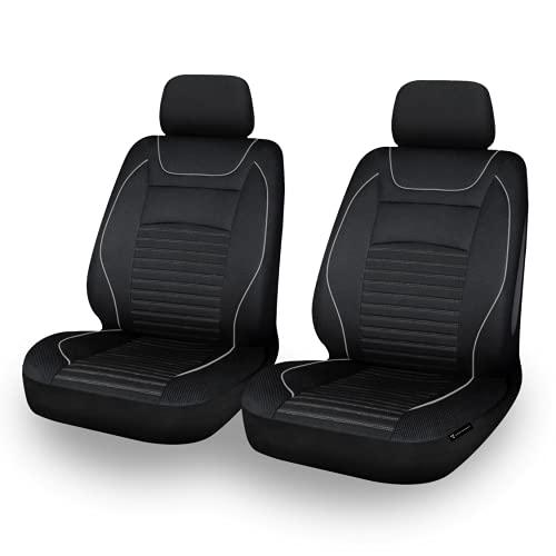 EDELWORKS® Autositzbezüge Vordersitze in Premium Design (2er Set) - Universell passende Auto...