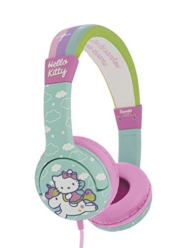 OTL Technologies JUNIOR Kinder Kopfhörer Hello Kitty Unicorn (gepolsterte Bügel, Lautstärke Begrenzung...