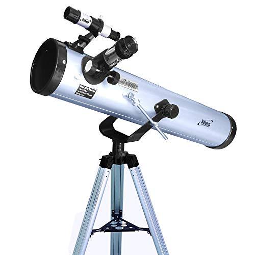 Seben Teleskop 76/700 AZ - astronomisches Spiegelteleskop für Kinder inklusive Aluminium Stativ, großem...