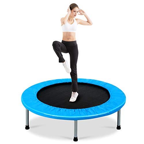 COSTWAY Mini Trampolin φ97cm, Fitness Trampolin faltbar, Kindertrampolin bis zu 150kg belastbar,...