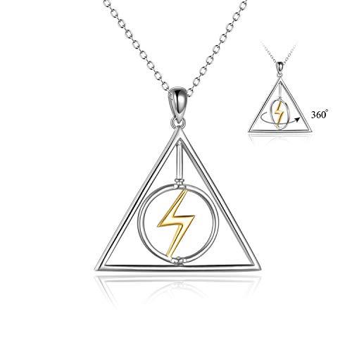 YFN Harry Potter Halskette Sterling Silber Harry Potter Anhänger Schmuck Harry Potter Geschenke für...