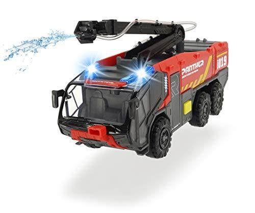 Dickie Toys 203714012 Flughafenfeuerwehr-203714012 Flughafenfeuerwehr, Rosenbauer, beweglicher Löscharm,...