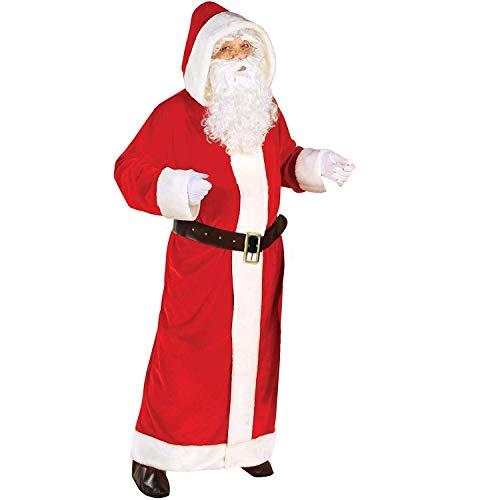 Widmann - Erwachsenenkostüm Weihnachtsmann, Mantel mit Kapuze und Gürtel, Weihnachten, Mottoparty