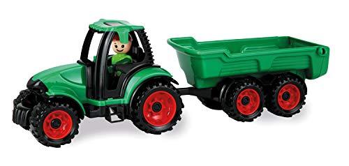 Lena 1625 Truckies Traktor mit Anhänger, stabiles Traktorset ca. 38 cm, Spielfahrzeug Set mit Trecker...