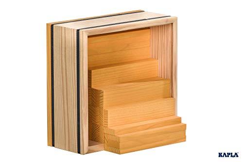 KAPLA 9000156 Holzplättchen 40-teilig in Box Gelb