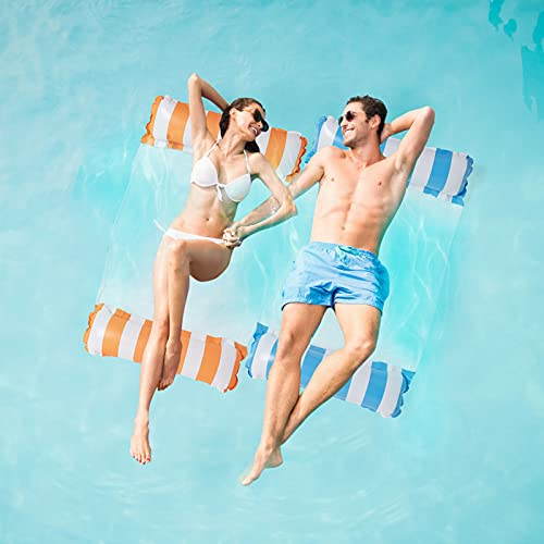 2Stk Luftmatratze Pool, Pool Spielzeug Erwachsene 4 In 1 Aufblasbare Wasserspielzeug Pool Zubehör, Pool...